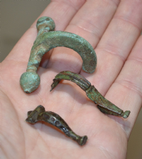 A very cheap group of 3 assorted Roman bronze Fibula Brooches from North Yorkshire (Group 6) SOLD